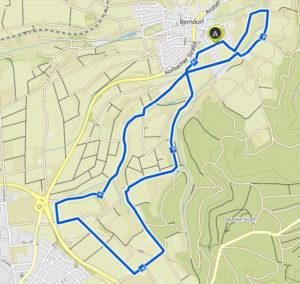 Berndofer Volkslauf 10 Kilometer Strecke