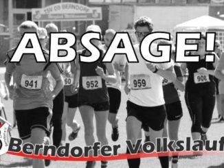 Absage Berndorfer Volkslauf 2020